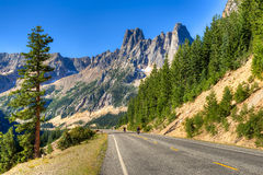 Liberty Bell. Mountain on North Cascades Highway in Washington Stock Images