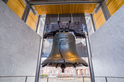 Liberty Bell. Old symbol of American freedom  in Independence Mall building in Philadelphia Pennsylvania Stock Images