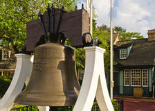 Liberty bell replica. A view of a replica of the famous United States Liberty Bell stock photography