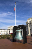 Liberty Bell replica in front Royalty Free Stock Photo