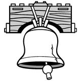 Liberty Bell Ringing Illustration Stock Images