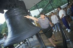 Liberty Bell and Tour Group Royalty Free Stock Photo