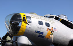 Liberty Belle in St. Louis- 2010. WWII B-17 aircraft at St. Louis Airport giving joyrides Stock Images