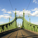 Liberty Bridge à Budapest, Hongrie Photo stock