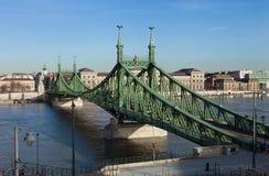 Liberty Bridge in Boedapest Stock Afbeeldingen