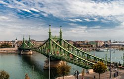 Liberty Bridge in Budapest stockfoto
