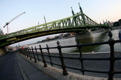 Liberty bridge, Budapest royalty free stock photography