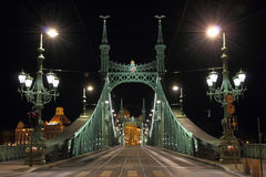 Liberty bridge in Budapest Stock Images