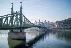 Liberty Bridge Budapest Royalty Free Stock Images