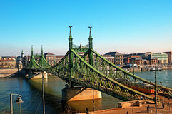Liberty Bridge in Budapest - Hungary royalty free stock photography
