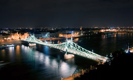 Liberty Bridge. In Budapest, Hungary Stock Images