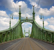 Liberty Bridge in Budapest, Hungary Stock Image