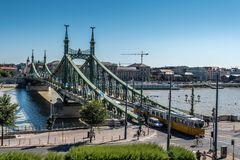 Liberty Bridge in Budapest Stock Image