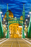 Liberty Bridge, Budapest, Hungary stock images