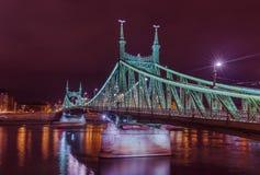 Liberty Bridge in Budapest Hungary Stock Photos