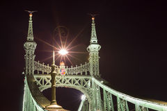 Liberty Bridge in Budapest, Hungary. Stock Image