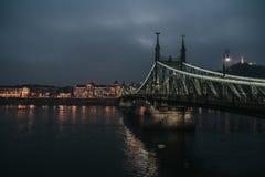 Liberty Bridge Budapest stock image