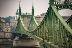 Liberty bridge in Budapest, Hungary. Stock Photography