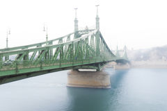 Liberty bridge in Budapest, Hungary. Royalty Free Stock Photo