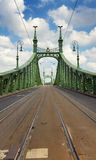 Liberty Bridge in Budapest, Hungary Stock Images