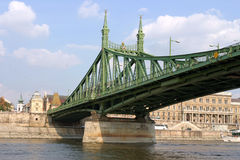 Liberty Bridge Budapest Hungary Royalty Free Stock Images
