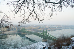 Liberty bridge in Budapest, Hungary Royalty Free Stock Photo