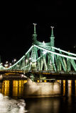 Liberty Bridge. In Budapest by night Stock Images