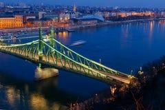 Liberty bridge in Budapest Royalty Free Stock Image