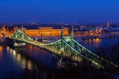 Liberty bridge in Budapest Royalty Free Stock Photo