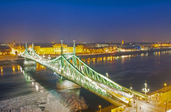 Liberty bridge in Budapest Royalty Free Stock Image