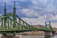Liberty Bridge Budapest over the Danube Royalty Free Stock Images