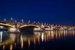 Liberty bridge in Budapest stock photo