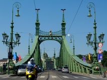 Liberty bridge in Budapest a popular tourist attraction royalty free stock photos
