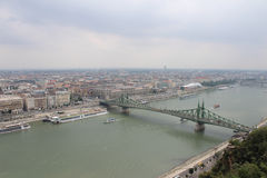 Liberty bridge in Budapest (Szabadsag hid). View to Pest, Liberty bridge and Danube in Budapest, capital of Hungary Royalty Free Stock Photo