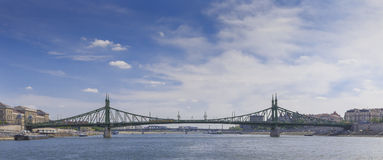 Liberty Bridge in Budapest Stock Photography