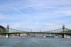 Liberty bridge on Danube river Stock Image