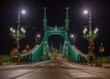 Liberty Bridge elegante en Budapest Imagen de archivo libre de regalías