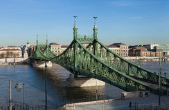 Liberty Bridge en Budapest Imagenes de archivo