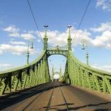 Liberty Bridge en Budapest, Hungría Foto de archivo