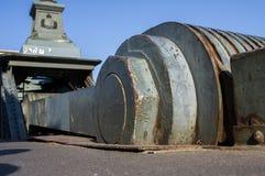 Liberty Bridge fragmentaire à Budapest Photo stock