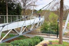 Liberty Bridge Greenville South Carolina Immagine Stock