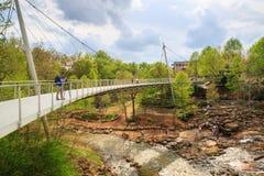 Liberty Bridge Greenville South Carolina Foto de Stock Royalty Free