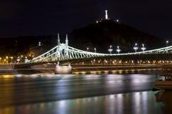 Liberty Bridge i Budapest, Ungern Fotografering för Bildbyråer