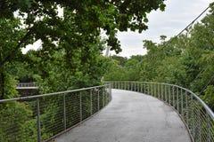 Liberty Bridge im Fall-Park auf dem schilfigen Stockbild