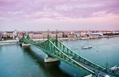 Free Liberty Bridge In Budapest Royalty Free Stock Photography - 55465167