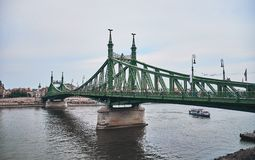 The Liberty Bridge. In Budapest royalty free stock image