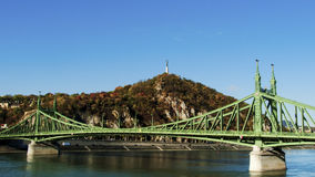 Liberty bridge. One of the most beautiful bridges in Budapest Stock Images