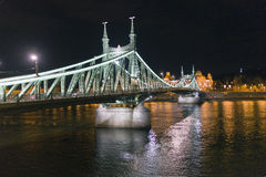 Liberty bridge over Danube in Budapest Stock Photography