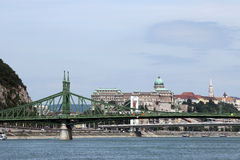 Liberty bridge over Danube river Stock Image