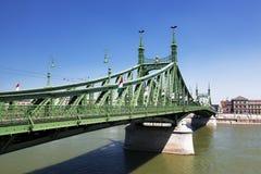 Liberty Bridge over Danube river Royalty Free Stock Images
